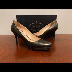 Black Prada heels, size 8.5